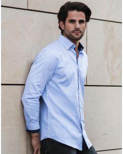 Koszula z długim rękawem Contrast Herringbone Tailored Russell
