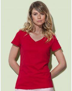 Damska koszulka t-shirt V-neck Janet Stedman
