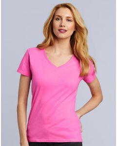 Damska koszulka t-shirt w serek Premium Gildan