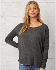 Damska koszulka z długim rękawem Flowy 2x1 Flowy Bella+Canvas