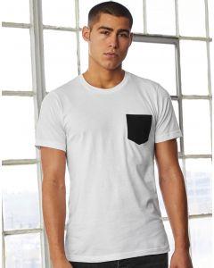 Koszulka t-shirt z kieszonką Jersey Bella+Canvas