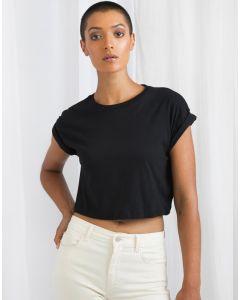 Damska koszulka t-shirt organiczny Crop Top Mantis