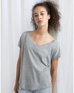 Damska koszulka t-shirt w serek Loose Fit Mantis