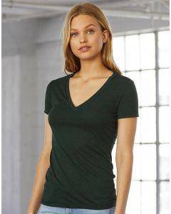 Damska koszulka t-shirt w serek Triblend Bella+Canvas