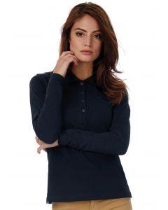 Damska koszulka polo z długim rękawem Safran Pure B&C