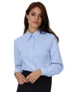 Damska koszula z długim rękawem Oxford B&C