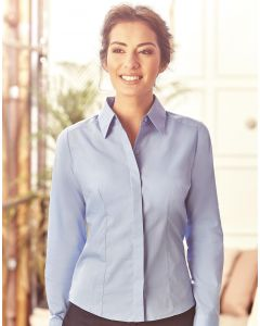 Damska koszula z długim rękawem Easy Care Fitted Poplin Russell