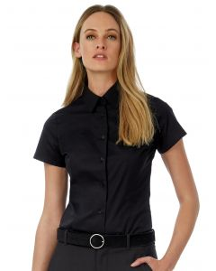 Damska koszula z krótkim rękawem Black Tie B&C