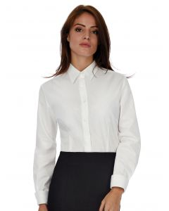 Damska koszula z długim rękawem Poplin Heritage B&C