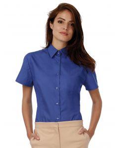 Damska koszula z krótkim rękawem Poplin Heritage B&C
