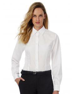 Damska koszula z długim rękawem Poplin Smart B&C