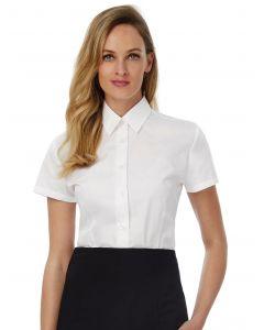 Damska koszula z krótkim rękawem Poplin Smart B&C