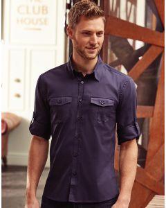 Koszula z długim podwijanym rękawem Russell