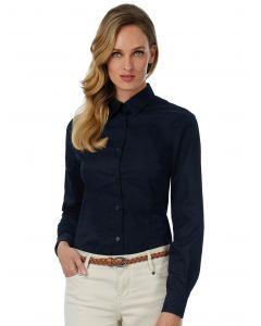 Damska koszula z długim rękawem Sharp Twill B&C