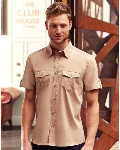 Koszula z krótkim podwijanym rękawem Russell