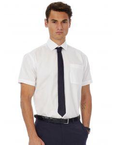 Koszula z krótkim rękawem Poplin Smart B&C