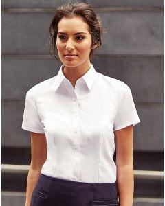 Damska koszula z krótkim rękawem w 'jodełkę' Russell