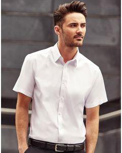 Koszula z krótkim rękawem w jodełkę Russell