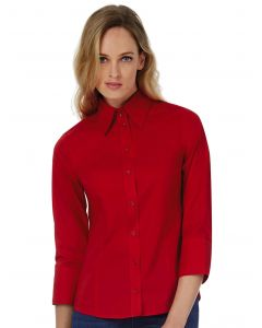 Damska koszula z rękawem 3/4 Poplin Milano B&C