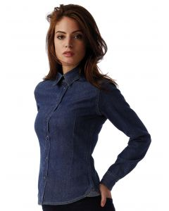 Damska koszula z długim rękawem DNM Vision B&C