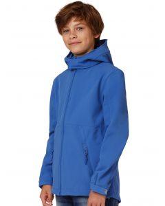 Dziecięca kurtka z kapturem Softshell B&C